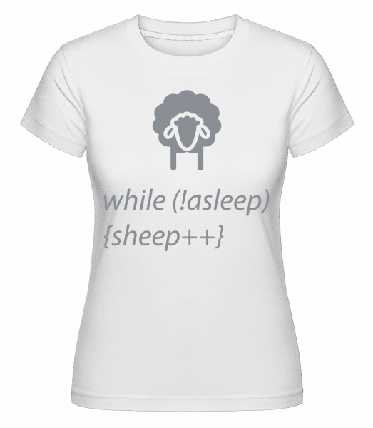 While Not Asleep -  Shirtinator Women's T-Shirt - White - Vorn