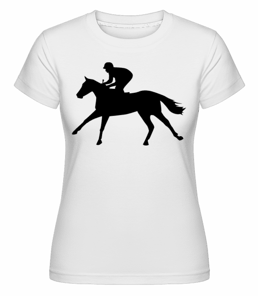 Horse Riding Black -  Shirtinator Women's T-Shirt - White - Vorn