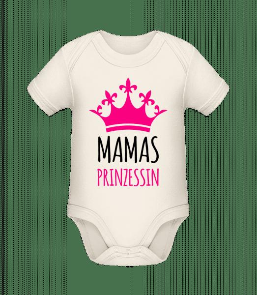 Mamas Prinzessin - Baby Bio Strampler - Creme - Vorn