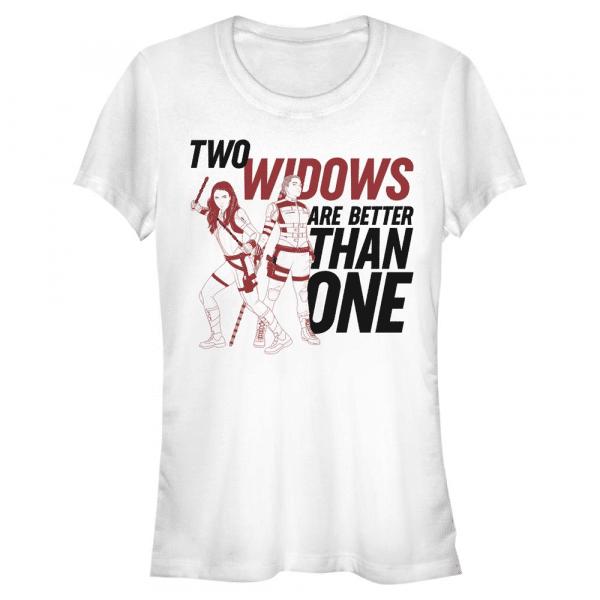 Two Widows Group Shot - Marvel Black Widow - Women's T-Shirt - White - Front