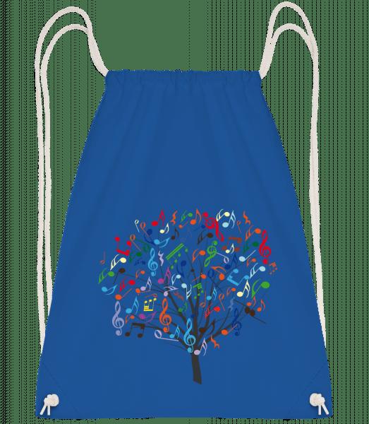 Colorful Music Tree - Drawstring Backpack - Royal blue - Vorn