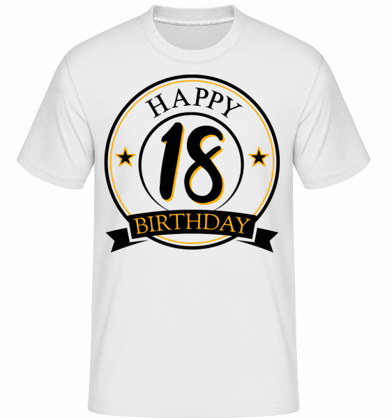Happy Birthday 18 -  T-Shirt Shirtinator homme - Blanc - Devant