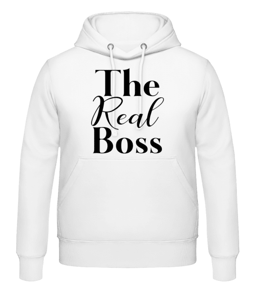 The Real Boss - Men's Hoodie - White - Vorn