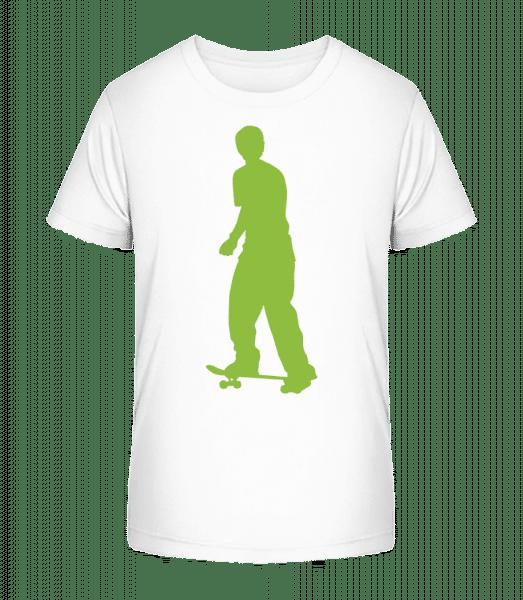 Skater Push - Kid's Premium Bio T-Shirt - White - Vorn