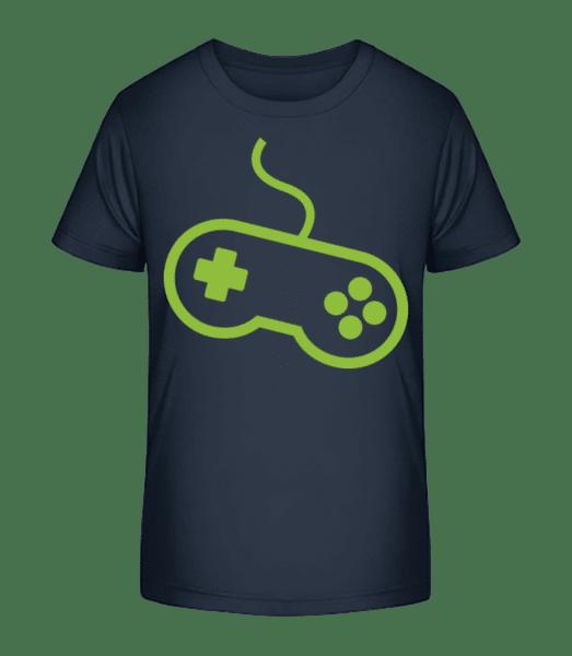 Controller Game Console - Kid's Premium Bio T-Shirt - Navy - Vorn
