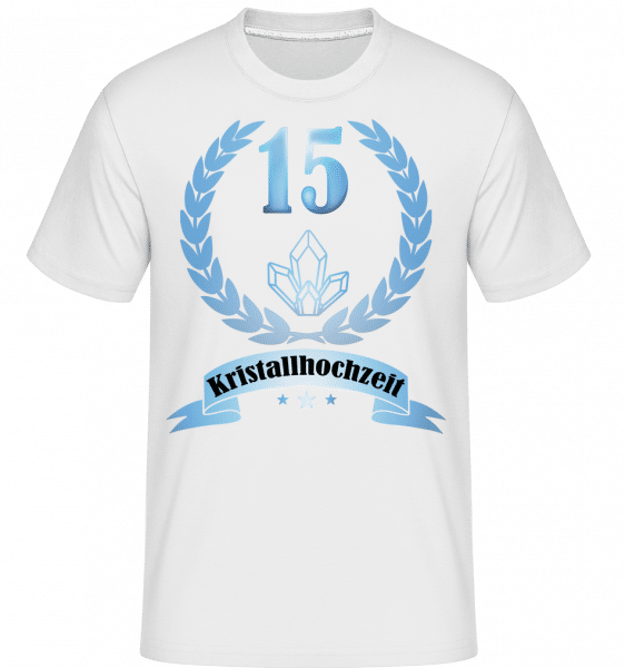 Kristallhochzeit - Shirtinator Männer T-Shirt - Weiß - Vorn