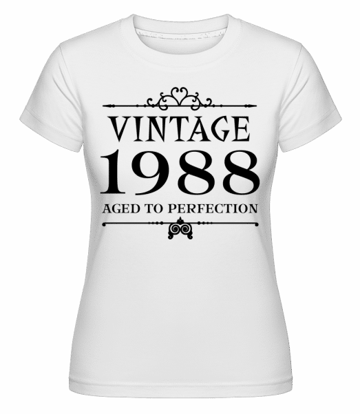 Vintage 1988 Perfection - Shirtinator Frauen T-Shirt - Weiß - Vorn