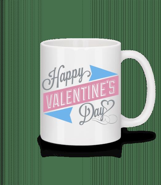 Šťastný Valentín - Keramický hrnček - Biela - Predné