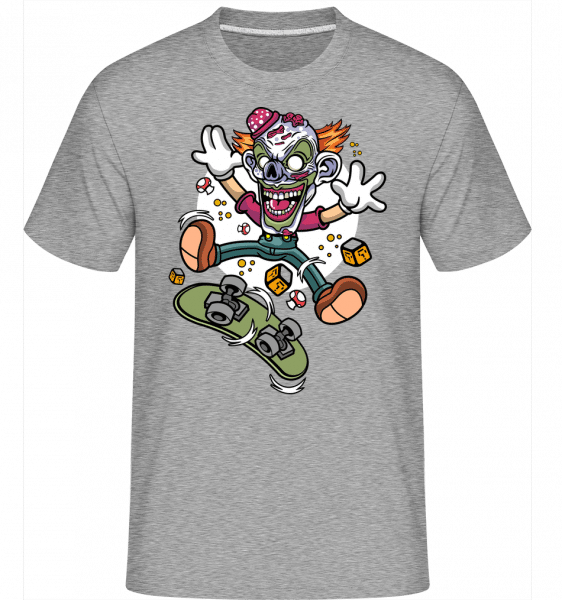 Clown Skater -  Shirtinator Men's T-Shirt - Heather grey - Front