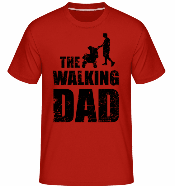 The Walking Dad -  Shirtinator Men's T-Shirt - Red - Vorn