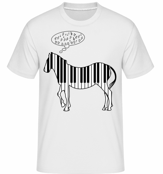 Piano Zebra -  Shirtinator Men's T-Shirt - White - Vorn