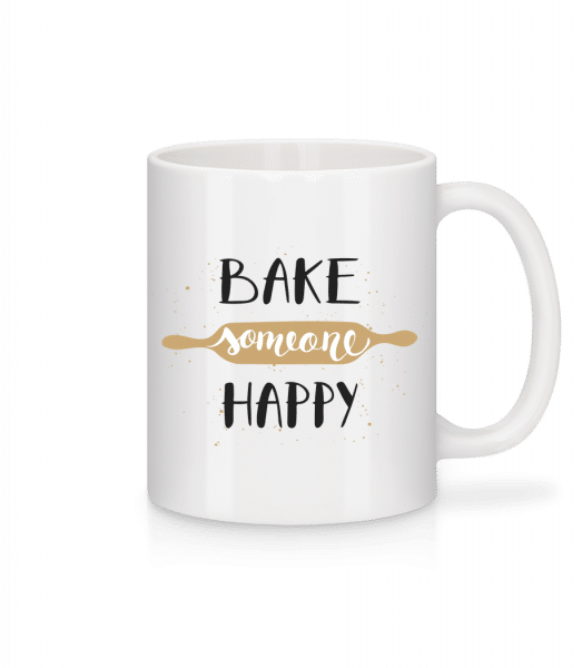 Bake Someone Happy - Mug - White - Vorn