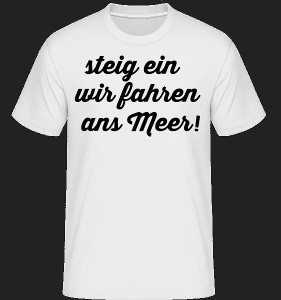 Wir Fahren Ans Meer - Shirtinator Männer T-Shirt - Weiß - Vorn