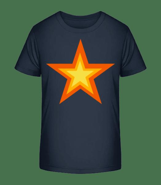 Star Logo - Kid's Premium Bio T-Shirt - Navy - Front
