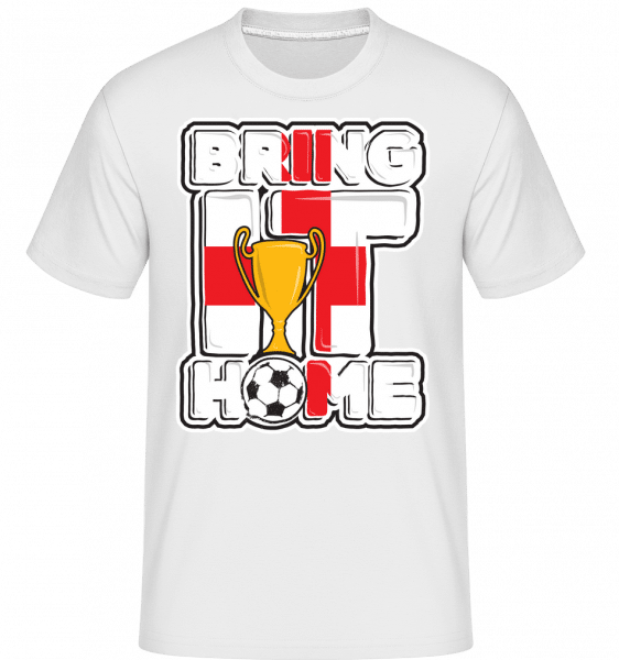 Football Angleterre Bring It Home -  T-Shirt Shirtinator homme - Blanc - Vorn
