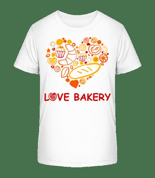 Love Bakery - Kid's Premium Bio T-Shirt - White - Vorn