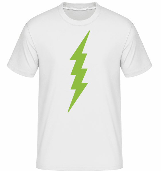 Flash Icon Green - Shirtinator Männer T-Shirt - Weiß - Vorn