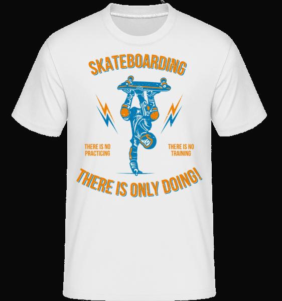 Skateboarding -  Shirtinator Men's T-Shirt - White - Front