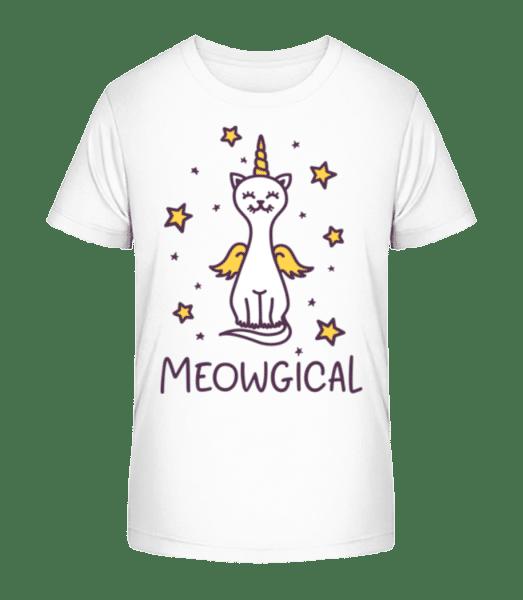 Meowgical - Detské Premium Bio tričko - Bílá - Napřed