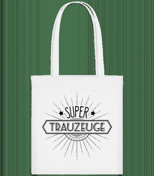 Super Trauzeuge - Stoffbeutel - Weiß - Vorn