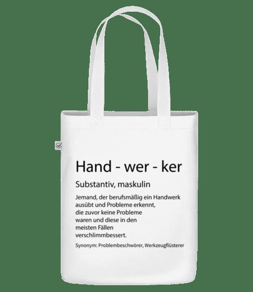 Handwerker Quatsch Duden - Bio Tasche - Weiß - Vorn