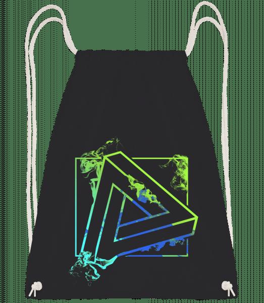 Impossible Triangle - Drawstring Backpack - Black - Vorn