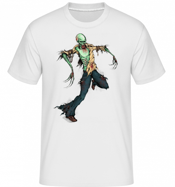 Creepy Zombie -  Shirtinator Men's T-Shirt - White - Vorn