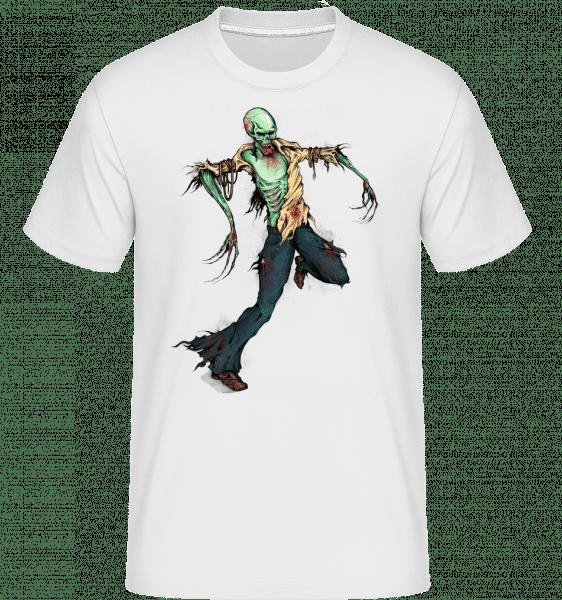 Gruseliger Zombie - Shirtinator Männer T-Shirt - Weiß - Vorn