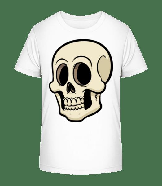 Cartoon Skull - Kid's Premium Bio T-Shirt - White - Vorn