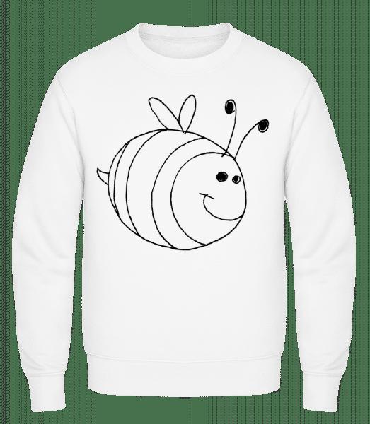 Kinder Comic - Biene - Männer Pullover - Weiß - Vorn