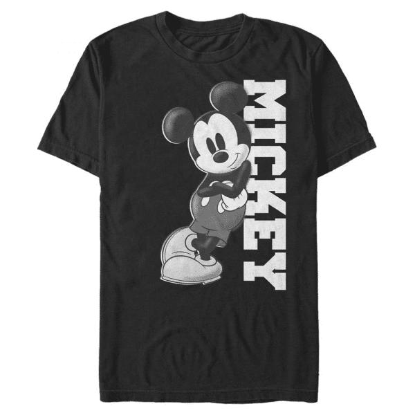 Mickey Lean Mickey Mouse - Disney - Men's T-Shirt - Black - Front