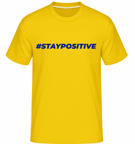 Staypositive -  Shirtinator Men's T-Shirt - Golden yellow - Front
