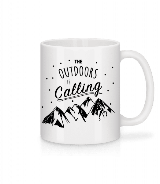 The Outdoors Is Calling - Tasse - Weiß - Vorn