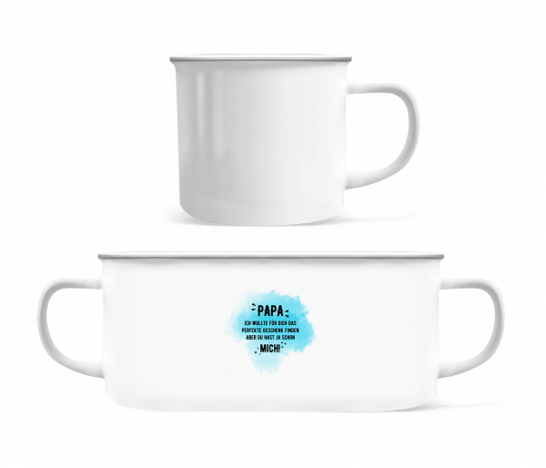 Papa Have Already Yes Me - Enamel-cup - White - Vorn