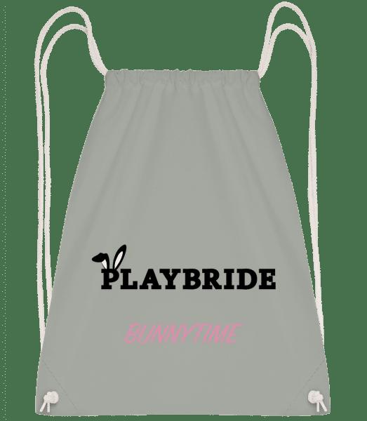 Playbride Bunnytime - Drawstring Backpack - Anthracite - Vorn