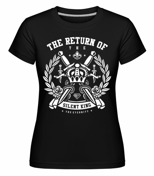 Crown - Shirtinator Frauen T-Shirt - Schwarz - Vorn