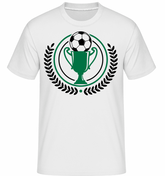 Football Laurel Wreath -  T-Shirt Shirtinator homme - Blanc - Vorn