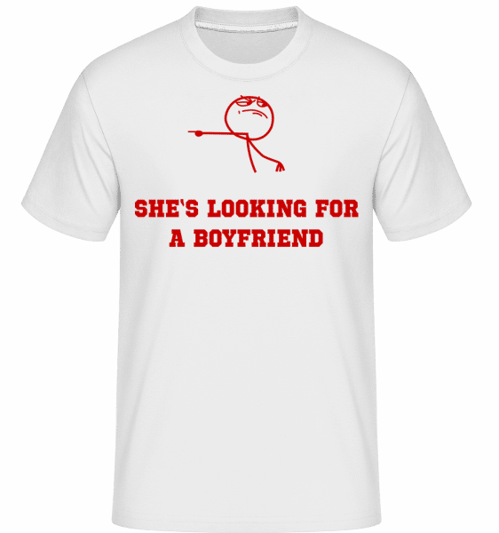 She's Looking For A Boyfriend -  Shirtinator Men's T-Shirt - White - Vorn