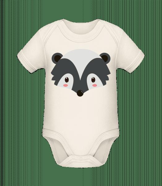 Racoon Comic - Organic Baby Body - Cream - Vorn