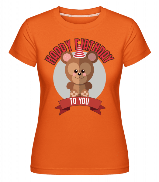 Happy Birthday To You Monkey -  Shirtinator Women's T-Shirt - Orange - Vorn