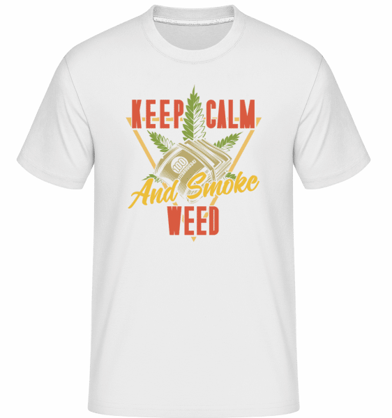 Keep Calm And Smoke Weed -  Shirtinator Men's T-Shirt - White - Front