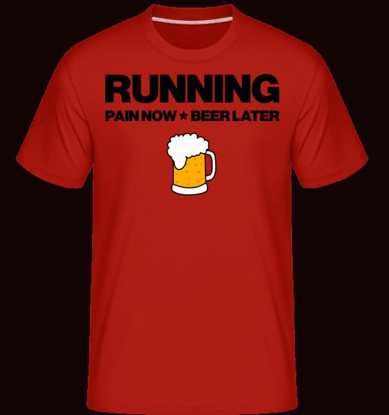 Běží Pivo - Motivace -  Shirtinator tričko pro pány - Červená - Napřed