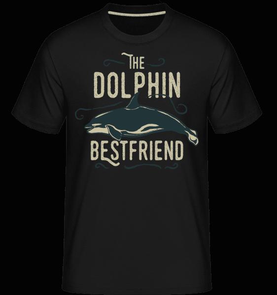 Best Friend Dolphin -  Shirtinator Men's T-Shirt - Black - Vorn