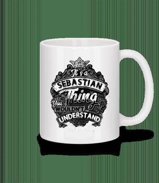 It's A Sebastian Thing - Mug - White - Vorn