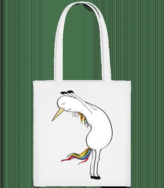 Yoga Unicorn Stretched - Carrier Bag - White - Vorn