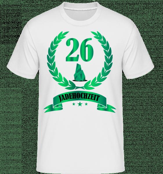 26 Jahre Jadehochzeit - Shirtinator Männer T-Shirt - Weiß - Vorn