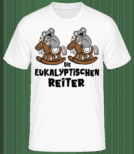 Die Eukalyptischen Reiter - Männer Basic T-Shirt - Weiß - Vorn