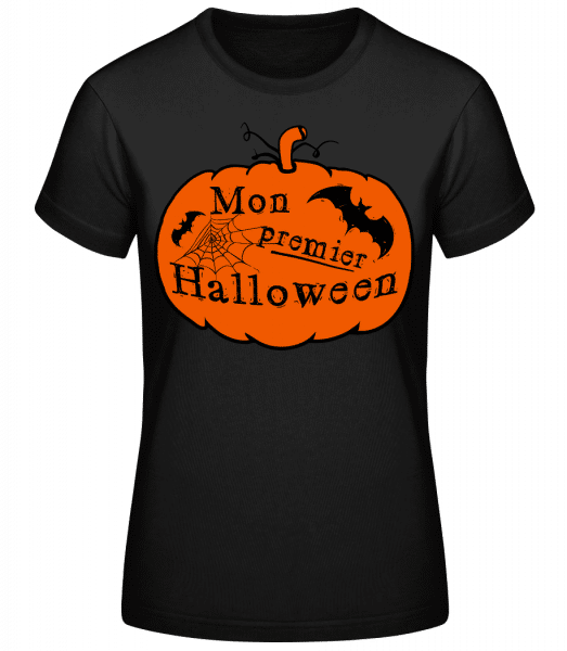 Mon Premier Halloween - T-shirt standard Femme - Noir - Vorn