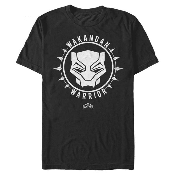 Black Panther Emblem - Marvel - Men's T-Shirt - Black - Front