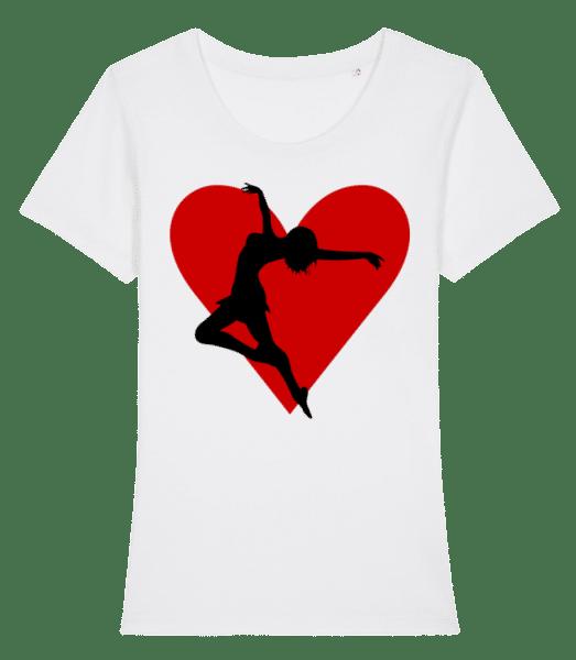 Tänzerin Herz - Frauen Premium Bio T-Shirt Stanley Stella - Weiß - Vorn